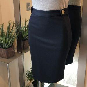 Diane von Furstenberg Navy blue pencil skirt (4)